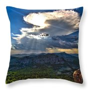 Storm In The Heavens Throw Pillow