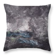 Storm In The Skerries. The Flying Dutchman Throw Pillow