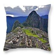 Storm Inbound To Machu Picchu Throw Pillow