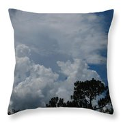 Storm Moving In Throw Pillow