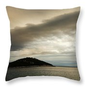 Storm Moving In Over Veli Osir Island In The Morning Throw Pillow