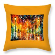 Storm Of Emotions - Palette Knife Oil Painting On Canvas By Leonid Afremov Throw Pillow