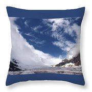 Storm On A Glacier Throw Pillow