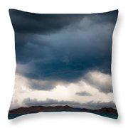 Storm On Karakul Lake Throw Pillow