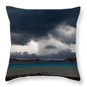 Storm On Karakul Lake. Panorama Throw Pillow by Konstantin Dikovsky