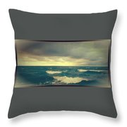 Storm On The Bay Throw Pillow