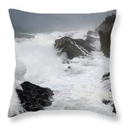 Storm On The Oregon Coast 2 Throw Pillow
