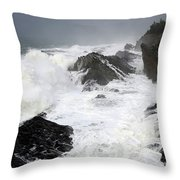Storm On The Oregon Coast Throw Pillow