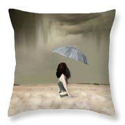 Storm On The Plains Throw Pillow
