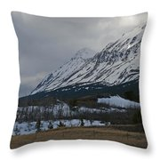 Storm On The Rocky Mountain Front Throw Pillow