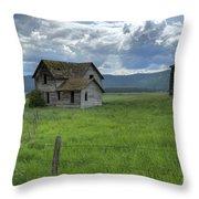 Storm Over Big Sky  Throw Pillow