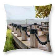 Storm Over Charleston Throw Pillow