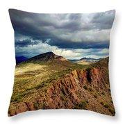 Storm Over Cliffs Throw Pillow