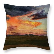 Storm Over Davis Mountains Throw Pillow
