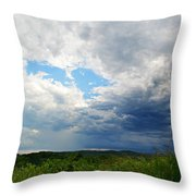 Storm Over Foothills Throw Pillow
