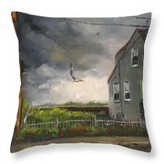 Storm Over Hull Jr Throw Pillow