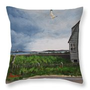 Storm Over Hull Throw Pillow
