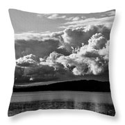 Storm Over Lake Placid Throw Pillow