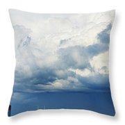 Storm Over Nashville Throw Pillow