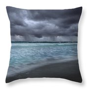 Storm Over Point Moore Throw Pillow