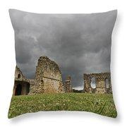 Storm Over Ruin Throw Pillow