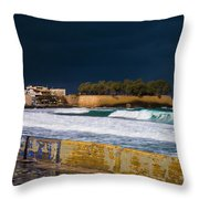 Storm Over The Aegean Throw Pillow
