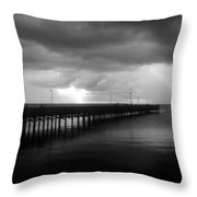 Storm Over The Anclote Throw Pillow