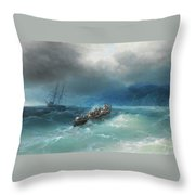 Storm Over The Black Sea Throw Pillow