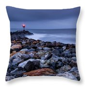 Storm Over The Jetty 2 Throw Pillow