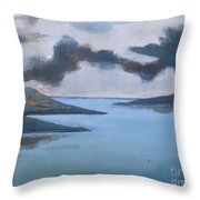 Storm Over The Lake Throw Pillow