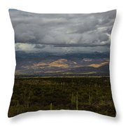 Storm Over The Mountains Of Arizona Throw Pillow