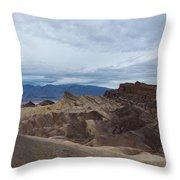 Storm Over Zabriskie Point Throw Pillow