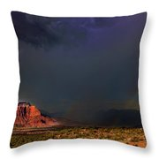 Storm Rainbow Back Of Zion National Park Utah Throw Pillow