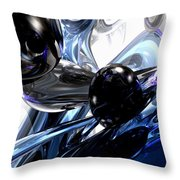 Storm Shadow Abstract Throw Pillow