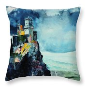 Storm The Castle Throw Pillow