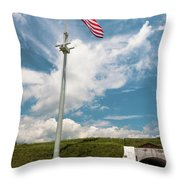 Storm The Hill Throw Pillow