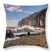 Storm Tide Cliffs End Throw Pillow
