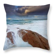 Storm Tides Throw Pillow