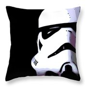 Storm Trooper In Black And White Throw Pillow