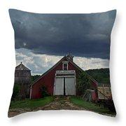 Storm Upon Maple Grove Farm Throw Pillow