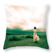 Storm Walk - Split Tone Throw Pillow