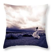 Storm Walk Throw Pillow