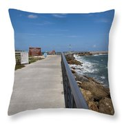 Storm Warning On The Atlantic Ocean In Florida Throw Pillow