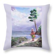 Storm Watching Throw Pillow