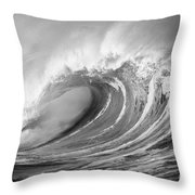 Storm Wave - Bw Throw Pillow