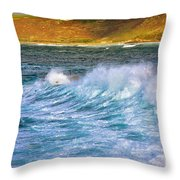 Storm Wave Throw Pillow