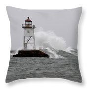 Storming The Wall Throw Pillow