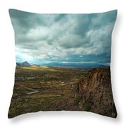 Storms And Cliffs Throw Pillow