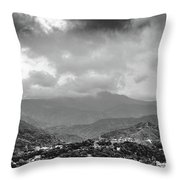Storms In Contrast Throw Pillow