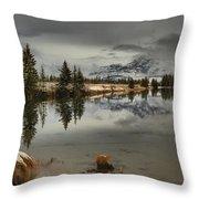 Storms Over Talbot Lake Throw Pillow